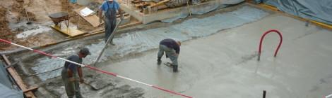 Pasivna hiša G – Gameljne – izvedba podložnega betona