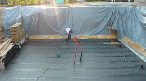 Pasivna hiša P – Gameljne – izvedba hidroizolacije