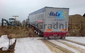 uvoz v gradbeno jamo - glapor - penjeno steklo